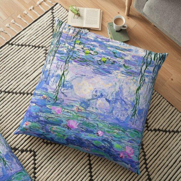 Claude Monet Water Lilies Floor Pillow