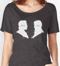 B*tch & Jerk (White) Women's Relaxed Fit T-Shirt
