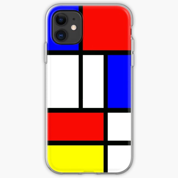 Piet Mondrian Composition 2 | Color Block with Red Yellow and Blue iPhone Soft Case