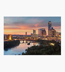 The Austin Skyline on a Summer Evening Photographic Print