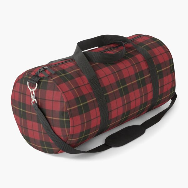 Wallace Red Original Scottish Tartan Duffle Bag