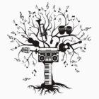 Melody Tree - Dark Silhouette by zomboy