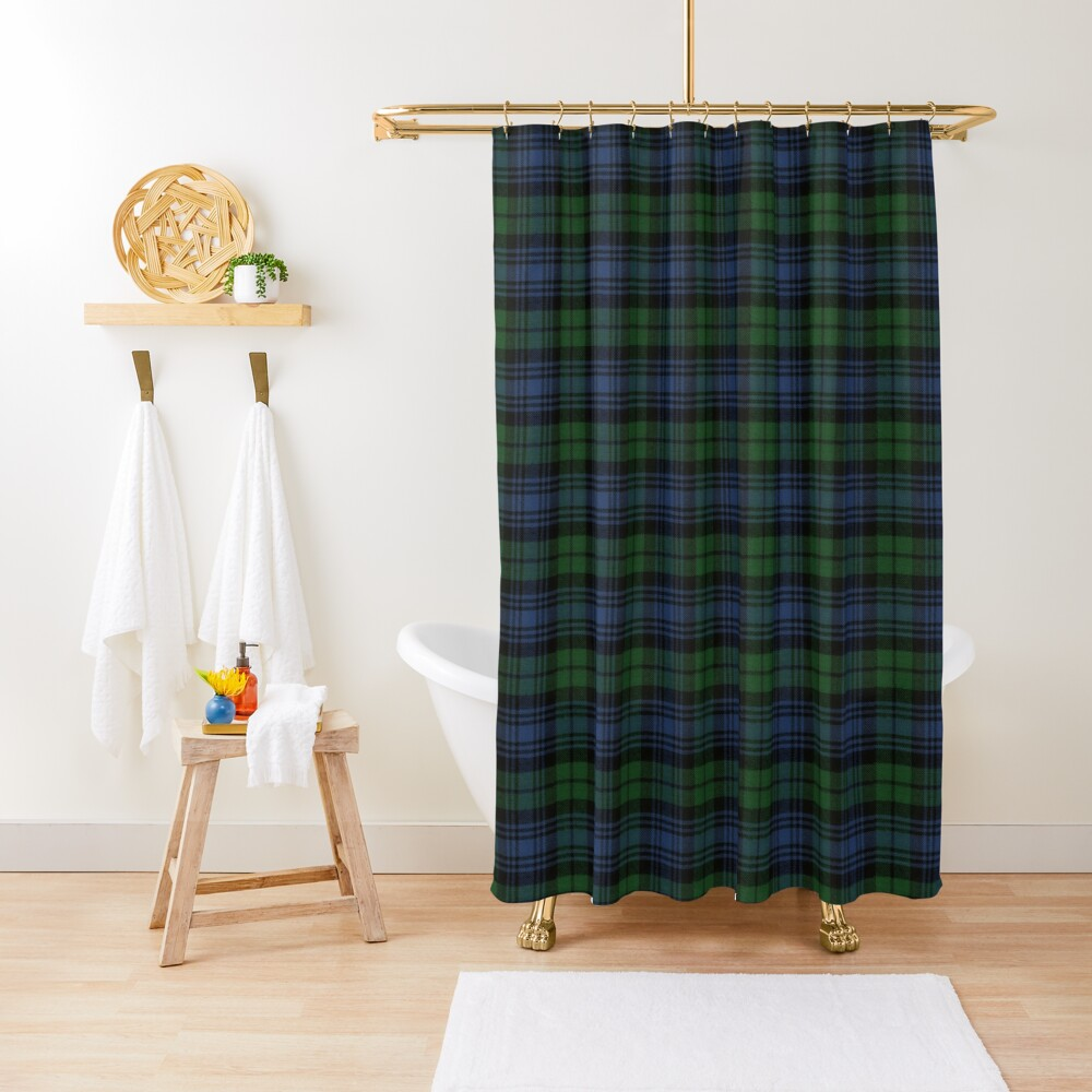 Black Watch Ancient  Original Scottish Tartan Shower Curtain