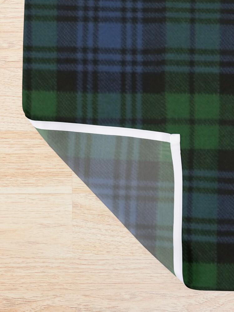 Alternate view of Black Watch Ancient  Original Scottish Tartan Shower Curtain