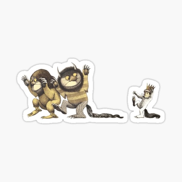 Where The Wild Things Are and Funny MAX Cartoon Sticker