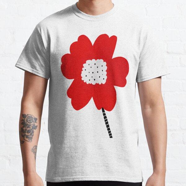 Flor roja red flower minimalistic digital art Classic T-Shirt