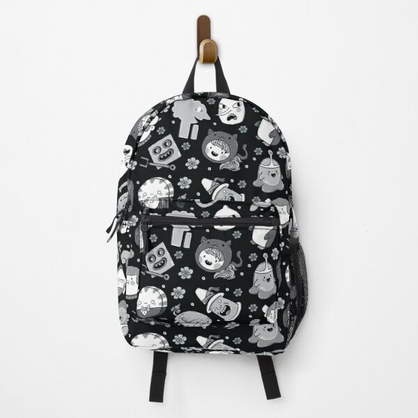 Adventure Time Friends 2 Black and White Greyscale Backpack