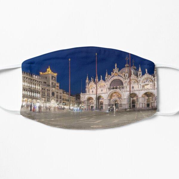 Venice Italy Night Magic - Saint Mark Square Piazza San Marco Blue Midnight Flat Mask