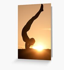Yoga Poses at Sunset 6 Greeting Card