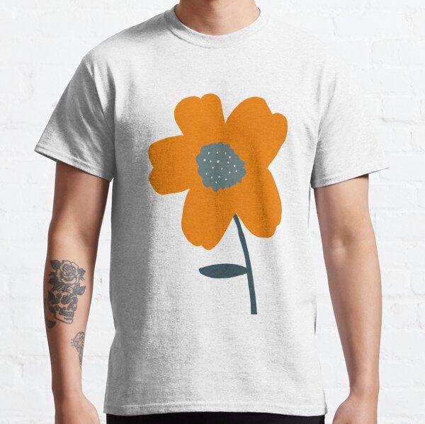minimalist Orange flower, digital art Classic T-Shirt