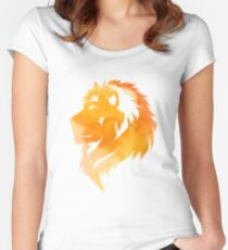 aquarell lion  Women's Fitted Scoop T-Shirt