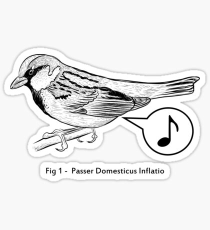 Passer Domesticus Inflatio Sticker