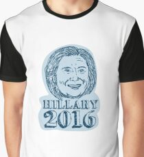 Hillary Clinton President 2016 Drawing Graphic T-Shirt