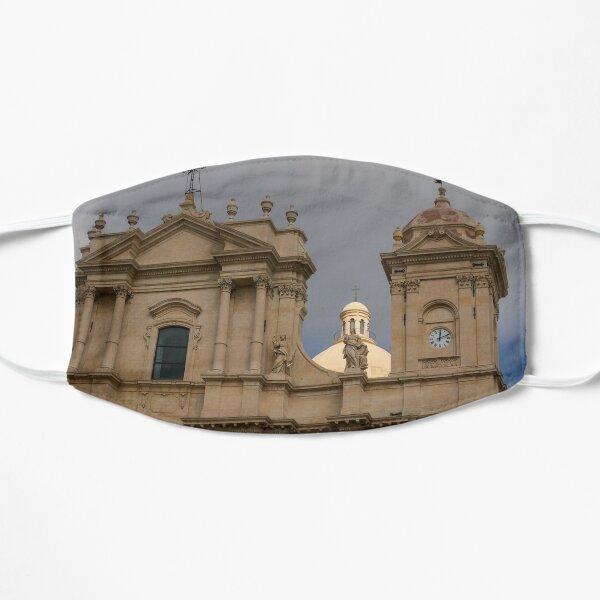Perfectly Placed Ray of Sunshine - Noto Cathedral Saint Nicholas of Myra  Flat Mask