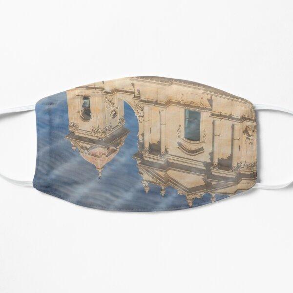 Unusual View - Noto Cathedral Saint Nicholas of Myra Reflected Flat Mask