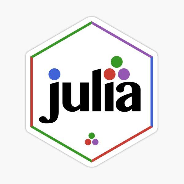 Julia Hex Sticker Multi-Colored Sticker