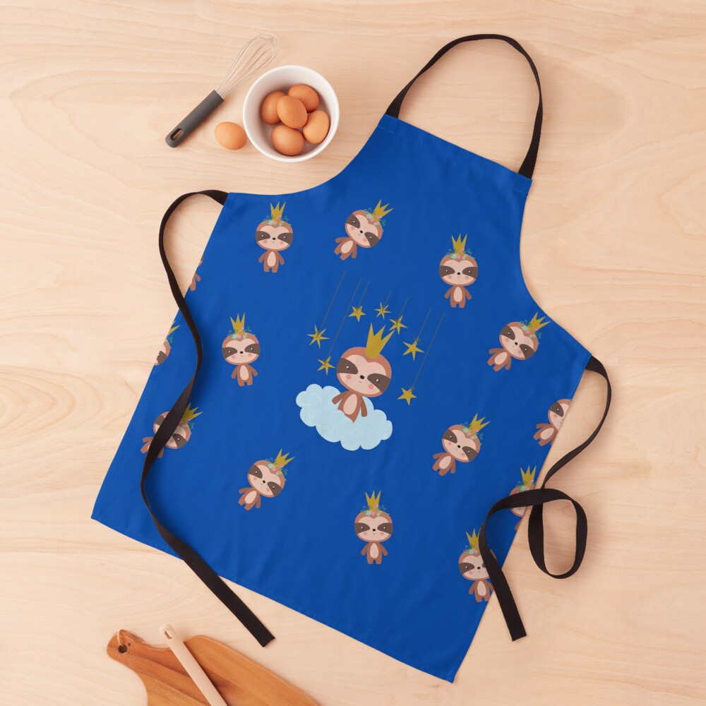 Cute Baby Sloth King Apron