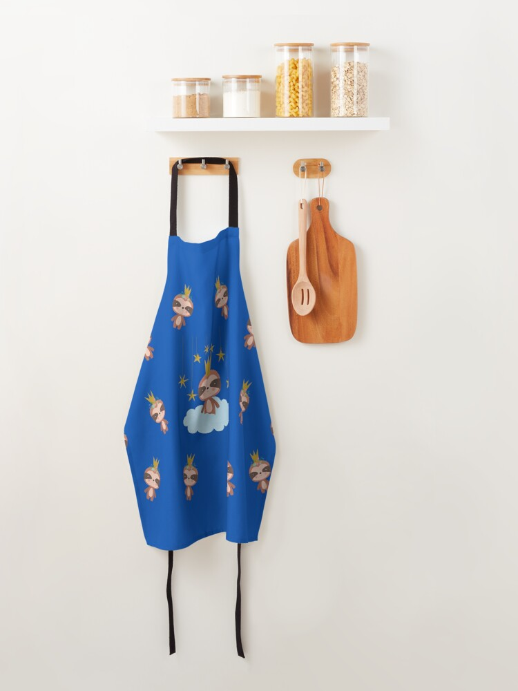 Alternate view of Cute Baby Sloth King Apron