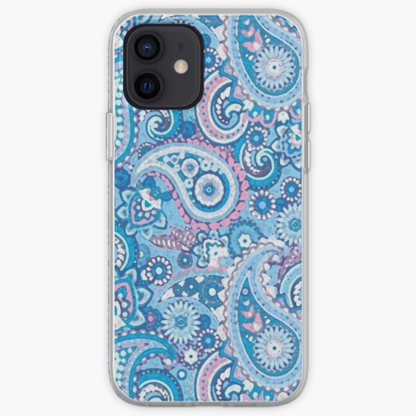 Blue and Pink Artisic Indian Pattern iPhone Soft Case
