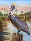 Bayou Coco Point Pelican by Phyllis Beiser