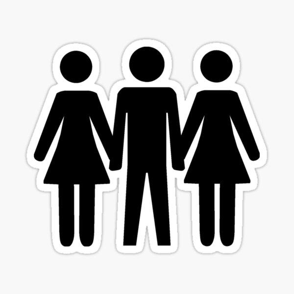 Threesome Symbol Sticker