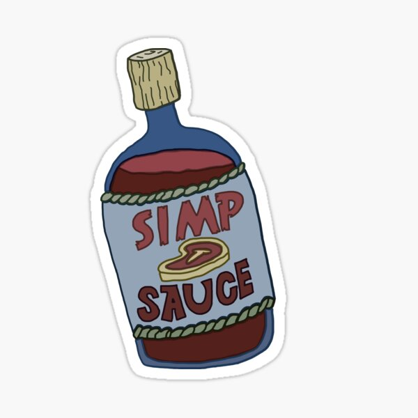 Simp Sauce Sticker