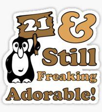 Cute 21st Birthday Gift For Women Sticker