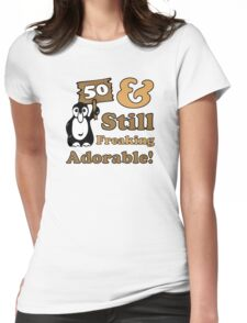 Cute 50th Birthday Gift For Women Womens Fitted T-Shirt