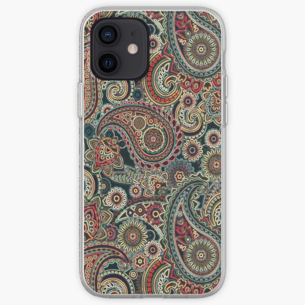 Red and Blue Artisic Indian Pattern iPhone Soft Case