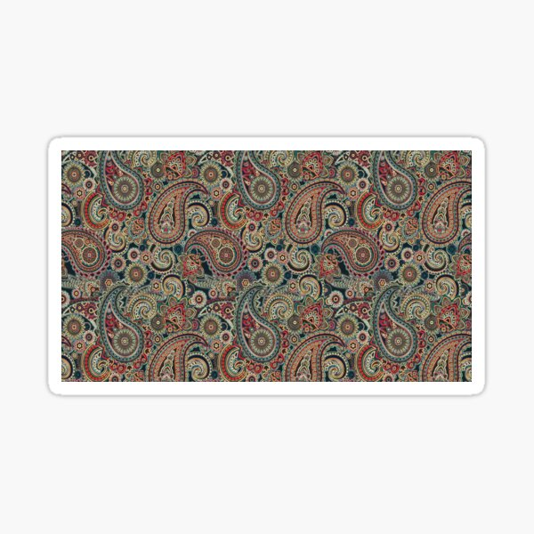 Red and Blue Artisic Indian Pattern Sticker