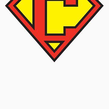 Super Initials Tee - C by NerdUniversitee
