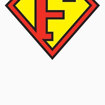 Super Initials Tee - F by NerdUniversitee