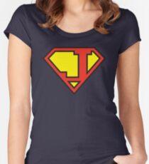 Super Initials Tee - J Women's Fitted Scoop T-Shirt