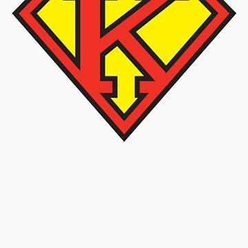 Super Initials Tee - K by NerdUniversitee