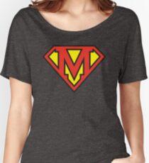 Super Initials Tee - M Women's Relaxed Fit T-Shirt