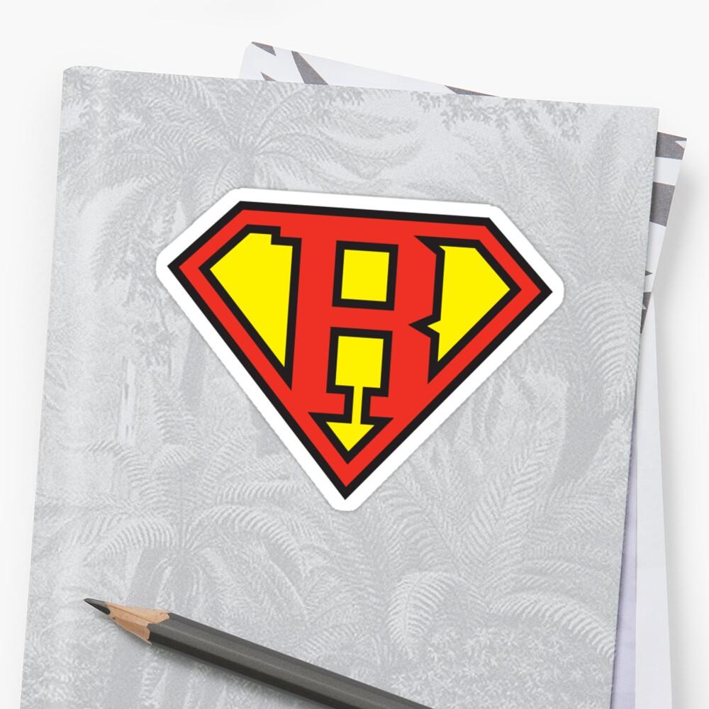Super Initials Tee - R by NerdUniversitee
