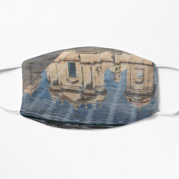 Reflecting on Noto Cathedral Saint Nicholas of Myra - Sicily, Italy Flat Mask