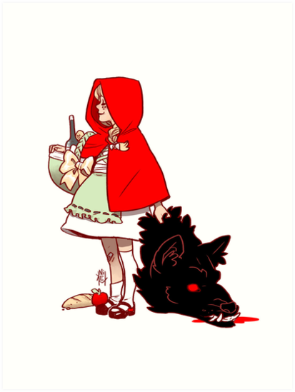 Little Red Hood by kickingshoes