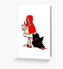 Little Red Hood Greeting Card