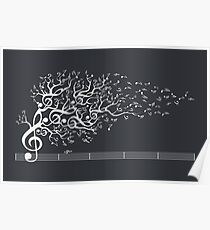 The Sound of Nature - White Poster