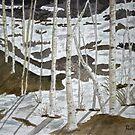 Aspen tree landscape painting art print by derekmccrea