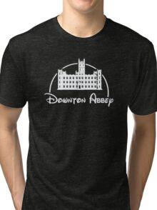 Downton Abbey / Disney //all white artwork// Tri-blend T-Shirt