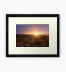 Prescott Glow Framed Print