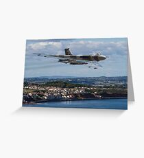 Vulcan XH558 over Dawlish Air Show Greeting Card