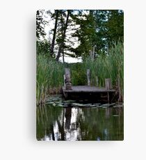 Dock in the Marsh Canvas Print