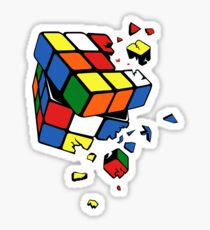 Exploding Cube Sticker