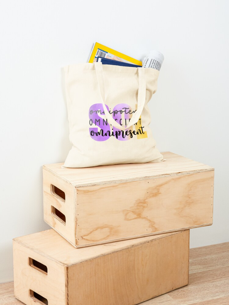 Alternate view of SCL Omnipotent, Omniscient, Omnipresent Tote Bag