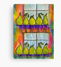 For the Love of Pears Canvas Print