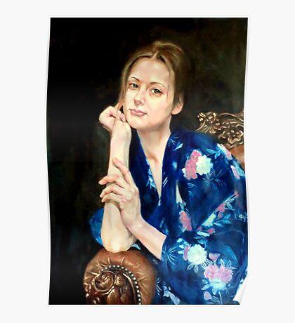 woman in yukata 2 Poster