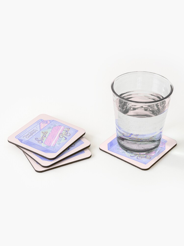 Alternate view of Brain Secretion Coasters (Set of 4)